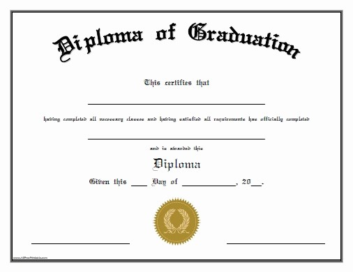 Preschool Diplomas Templates Printable Free New 13 Graduation Certificate Templates