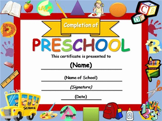 Preschool Graduation Certificate Free Printable Awesome Free Certificate Templates
