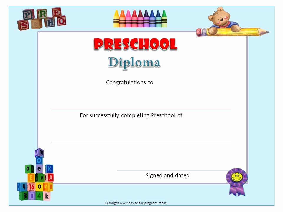 Preschool Graduation Certificate Free Printable Beautiful 9 Best Of Free Printable Diplomas Free Printable