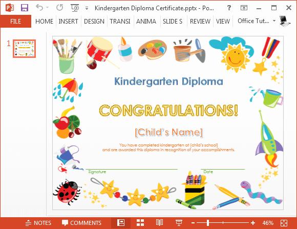 how to make a printable kindergarten diploma certificate