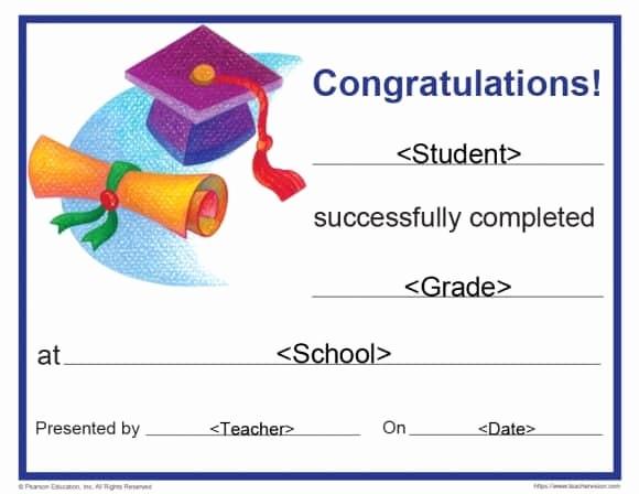 Preschool Graduation Certificate Free Printable Elegant 40 Graduation Certificate Templates & Diplomas
