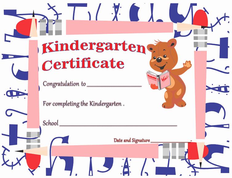 Preschool Graduation Certificate Free Printable Elegant Kindergarten Diploma Certificates Printable Templates
