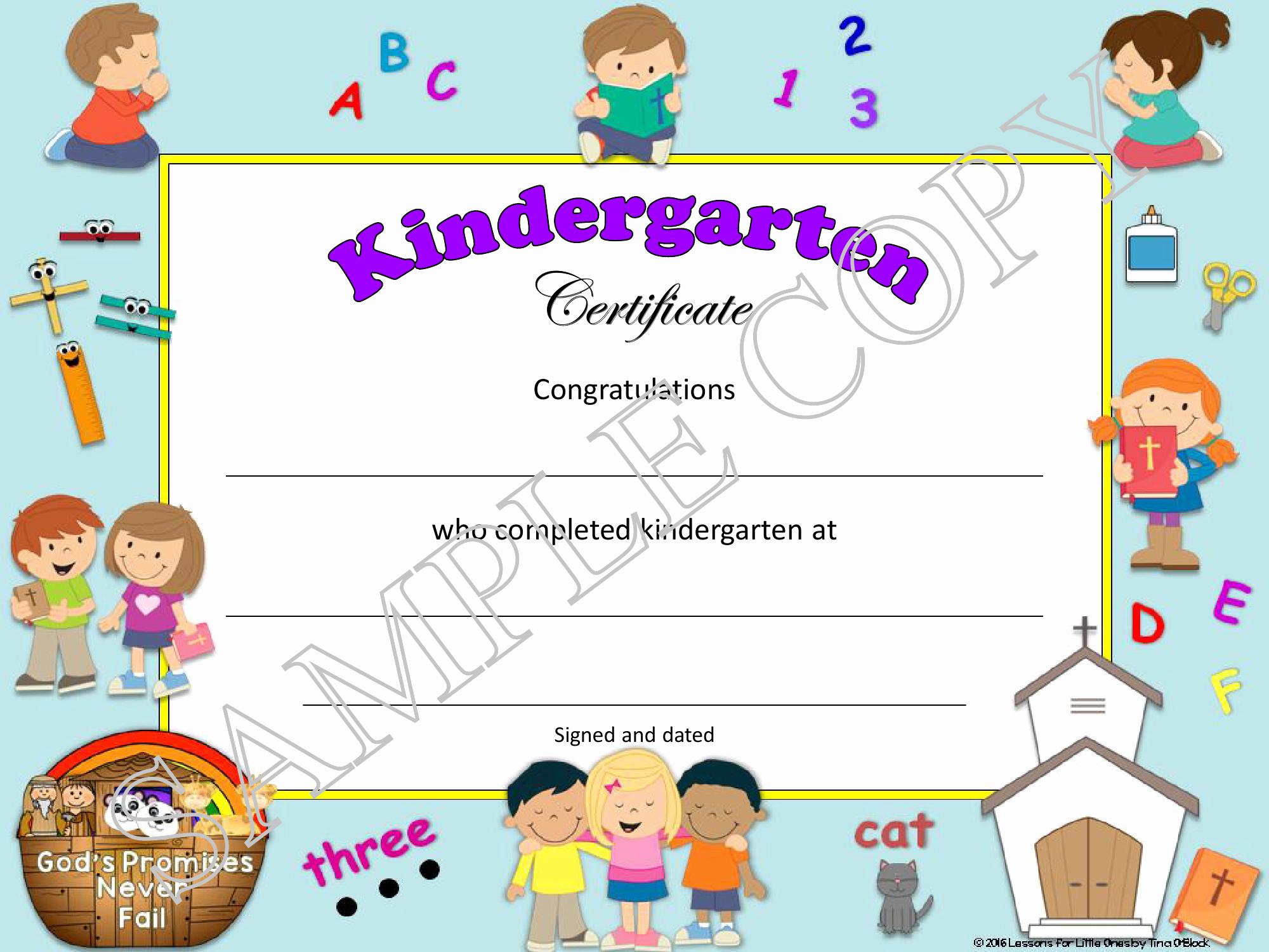 Preschool Graduation Certificate Free Printable Fresh Christian Religious Diplomas for Preschool – Grade 6