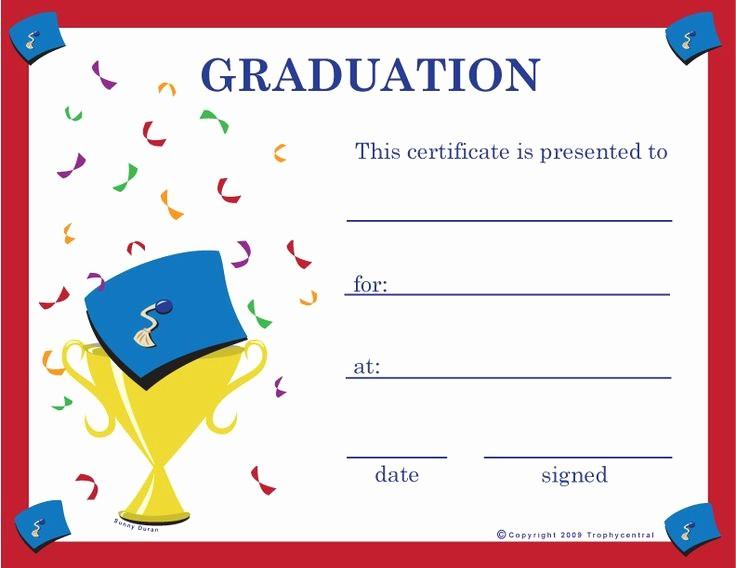Preschool Graduation Certificate Free Printable Fresh Graduation Certificates Projects to Try