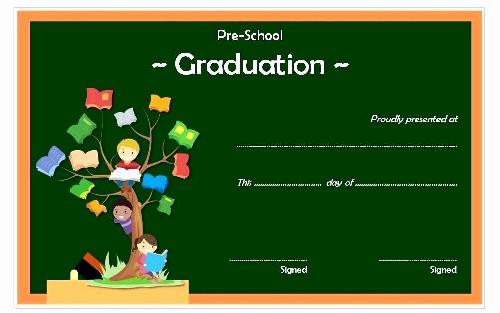 Preschool Graduation Certificate Free Printable Fresh Preschool Graduation Certificate Template Templates Free