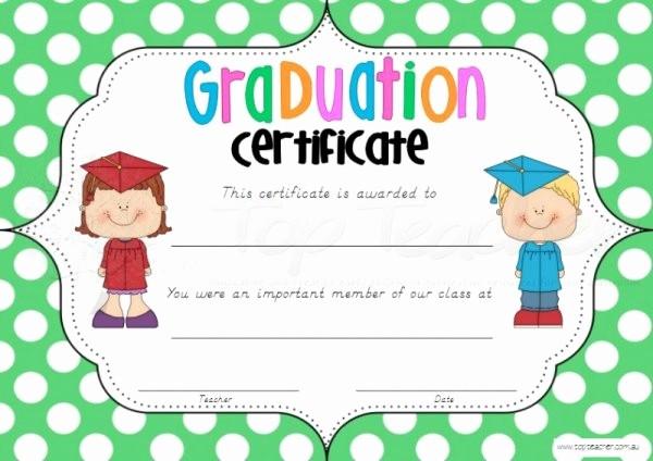 Preschool Graduation Certificate Free Printable Fresh Printable Graduation Certificates