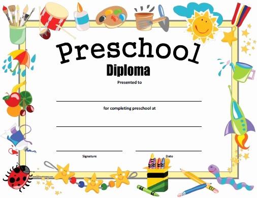 Preschool Graduation Certificate Free Printable Lovely Preschool Diploma Free Printable Allfreeprintable