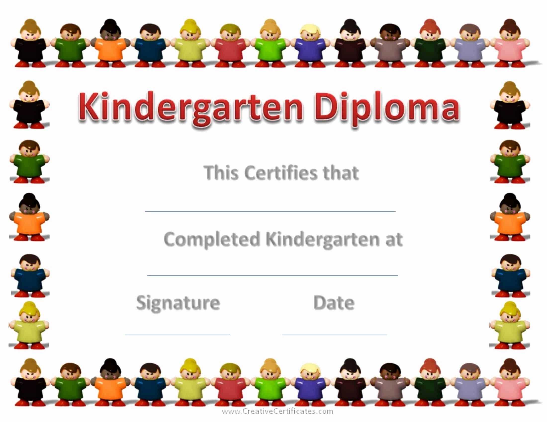 Preschool Graduation Certificate Free Printable Luxury Free Custom Kindergarten Graduation Certificates