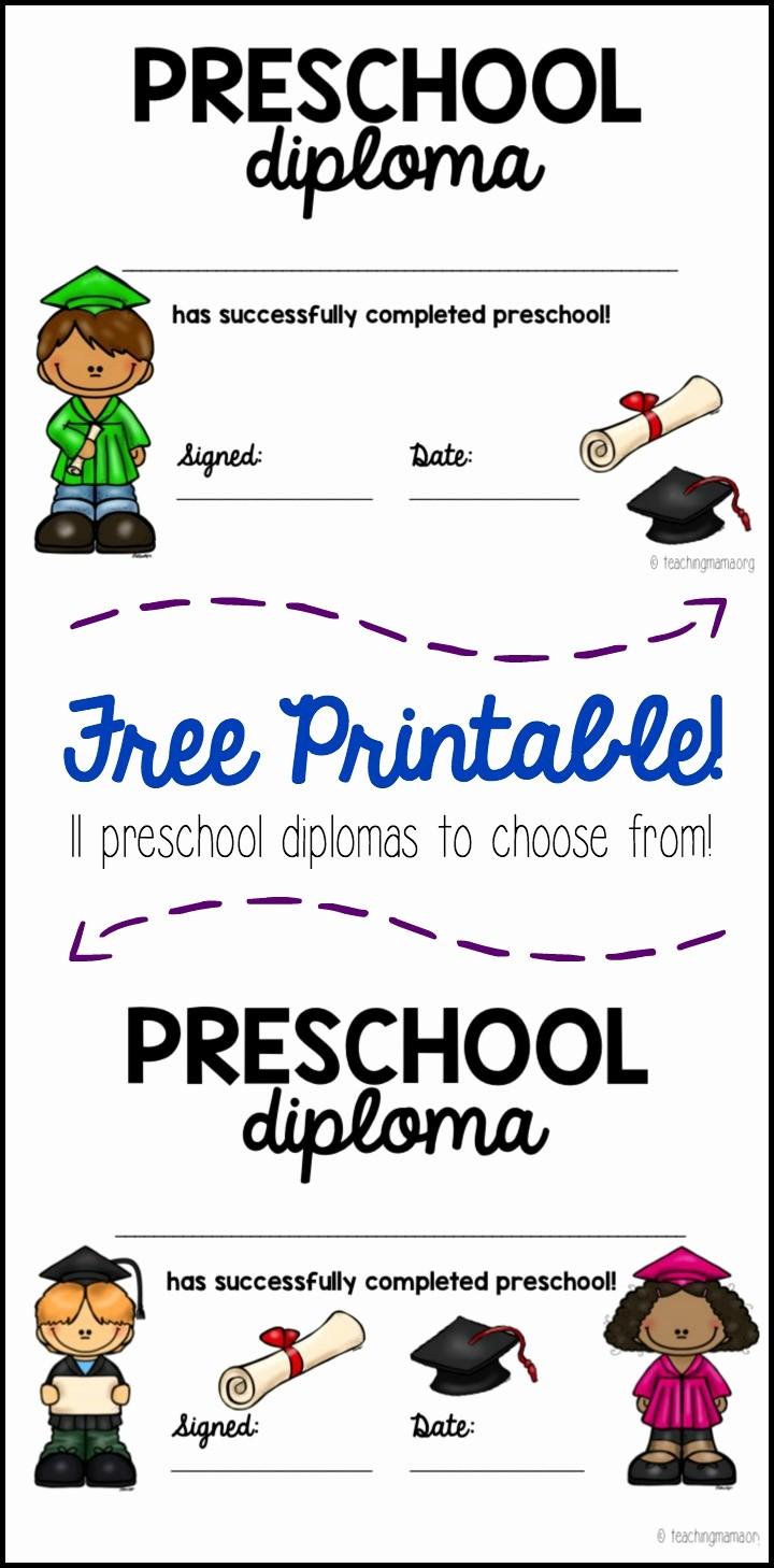 Preschool Graduation Certificate Free Printable Luxury Preschool Graduation Diploma