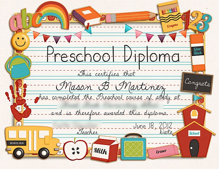 Preschool Graduation Certificate Free Printable New Sweet Shoppe Designs – the Sweetest Digital Scrapbooking