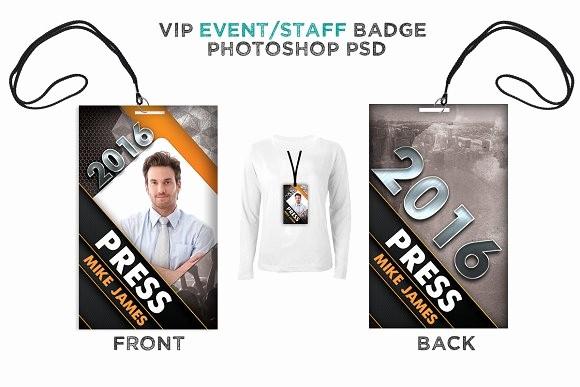 Press Pass Template Microsoft Word Beautiful Modern event Vip Badge Card Templates Creative Market