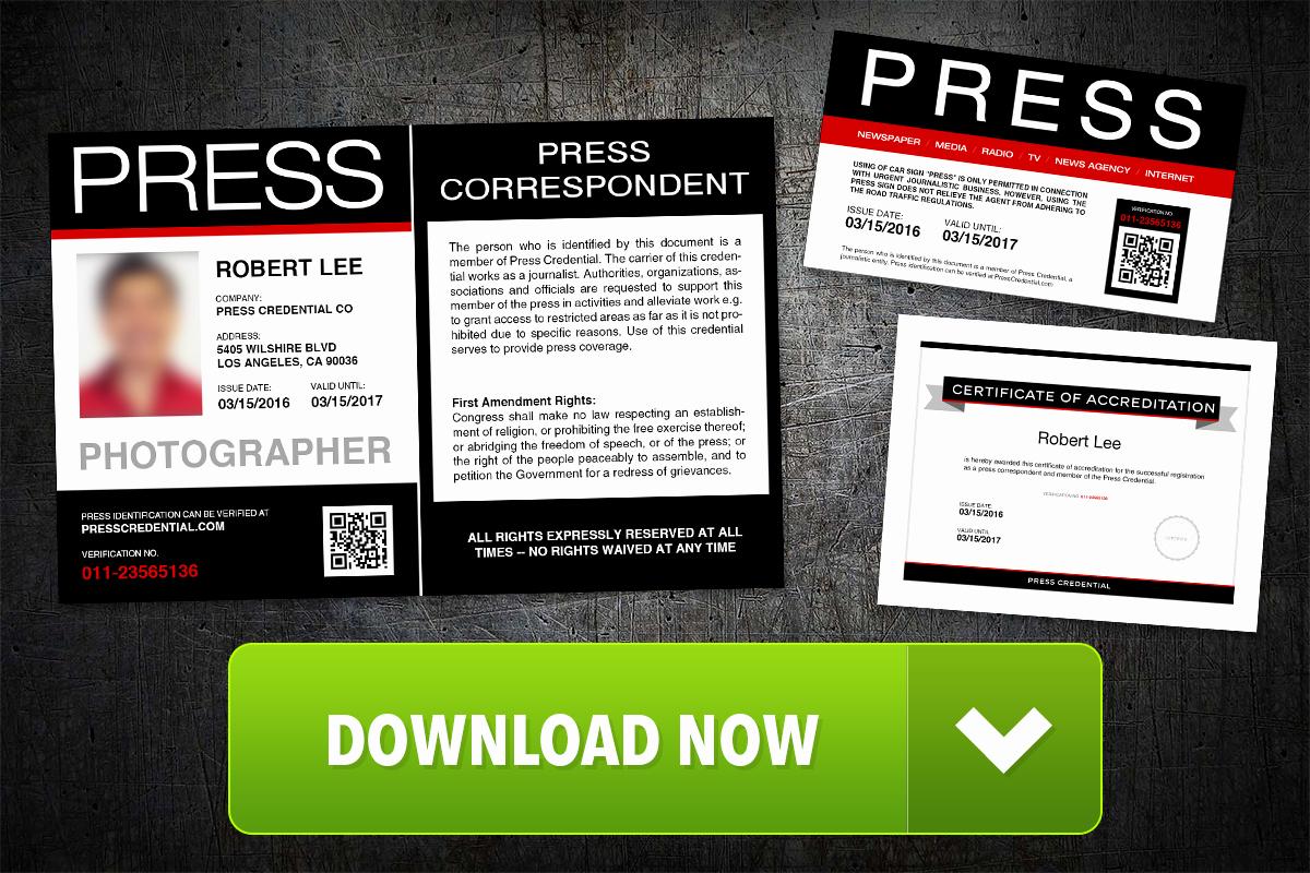 Press Pass Template Microsoft Word Best Of Press Pass Template