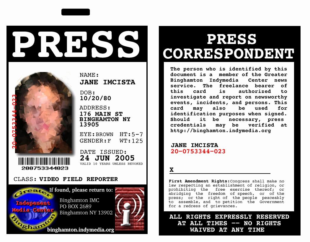 Press Pass Template Microsoft Word Inspirational Sample Press Passes