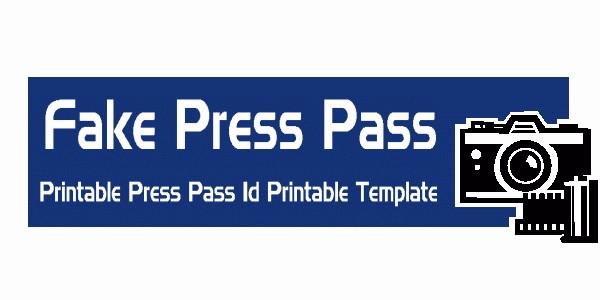 Press Pass Template Microsoft Word Lovely Press Pass Template