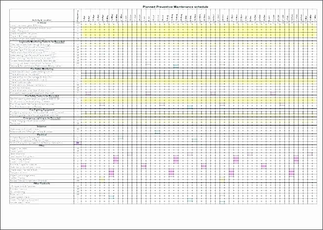 Preventive Maintenance Schedule Template Excel Best Of Maintenance Preventive Log Template Templates for Google
