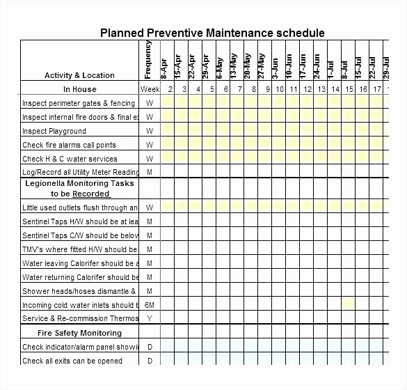 Preventive Maintenance Schedule Template Excel Elegant Fleet Maintenance Schedule Template – Tefutefufo