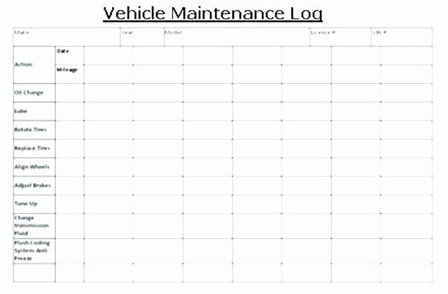 Preventive Maintenance Schedule Template Excel Inspirational Machine Maintenance Checklist Template Excel Preventive