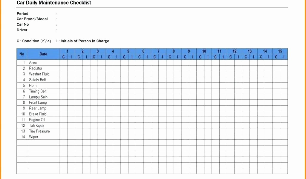 Preventive Maintenance Template Excel Download Beautiful Preventive Maintenance Excel Template Download by Vehicle