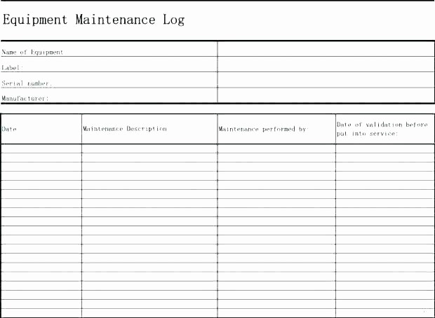 Preventive Maintenance Template Excel Download New Building Maintenance Plan Template Download Preventive