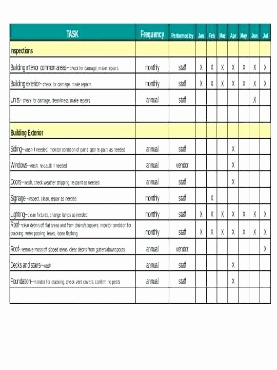 Preventive Maintenance Template Excel Download New Preventive Maintenance Excel Template Download by Vehicle