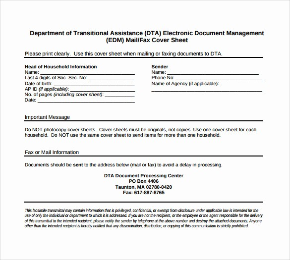 Print A Fax Cover Sheet Awesome 14 Sample Generic Fax Cover Sheets