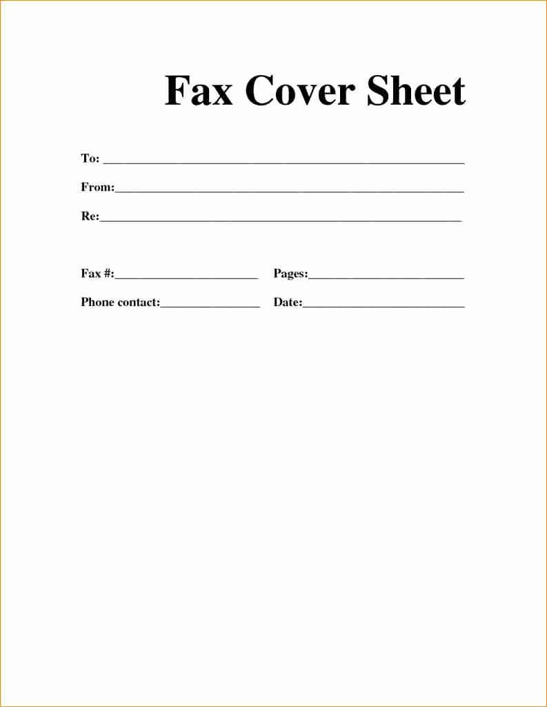 Print A Fax Cover Sheet Fresh [free] Fax Cover Sheet Template