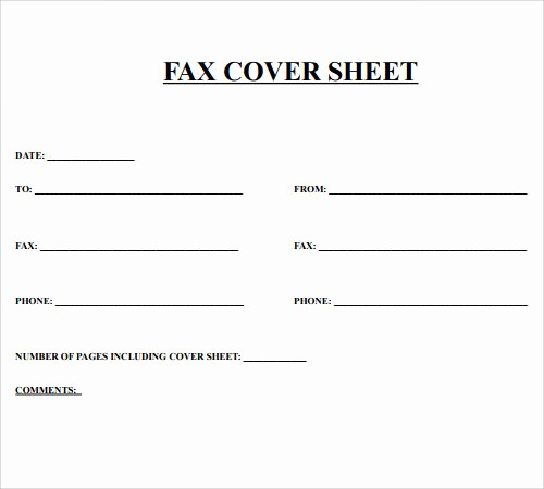 Print A Fax Cover Sheet New Fax Cover Sheet 27 Download Free Documents In Pdf
