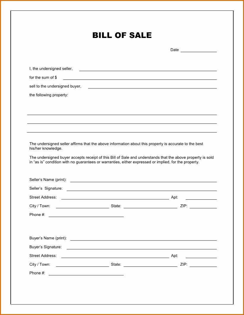 Print Bill Of Sale Car Luxury 14 Free Car Bill Of Sale Printable