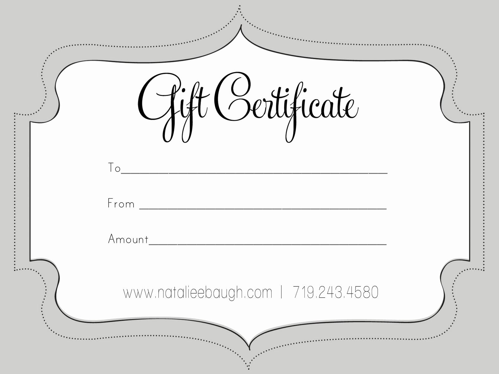 Print Gift Certificates Free Templates Beautiful T Certificate Template