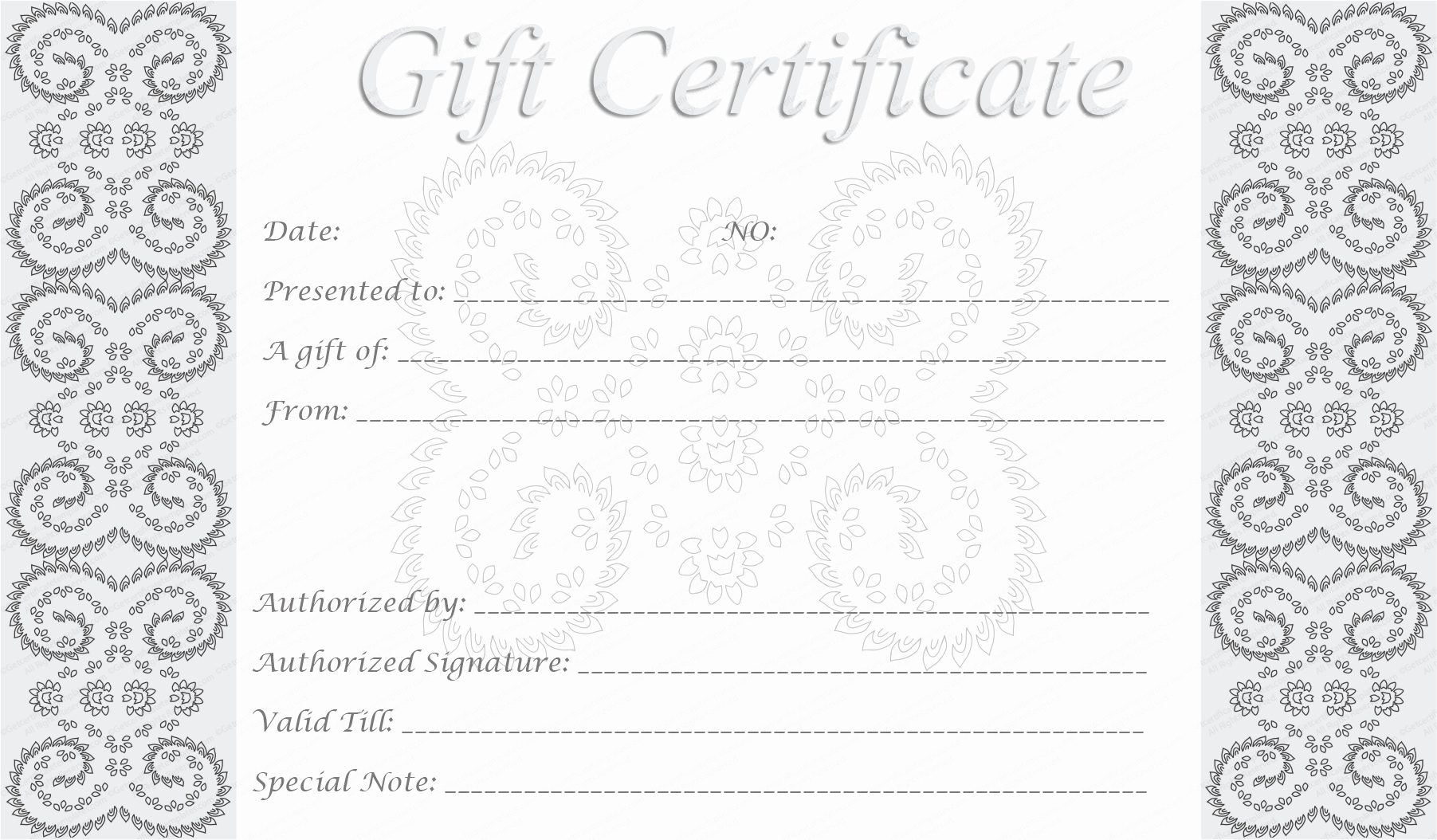 Print Gift Certificates Free Templates Best Of 5 Best Of Free Editable Printable Gift Certificates