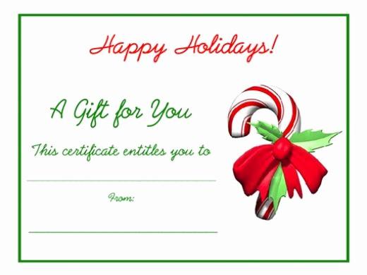 Print Gift Certificates Free Templates Elegant 5 Printable Holiday Certificate Templates