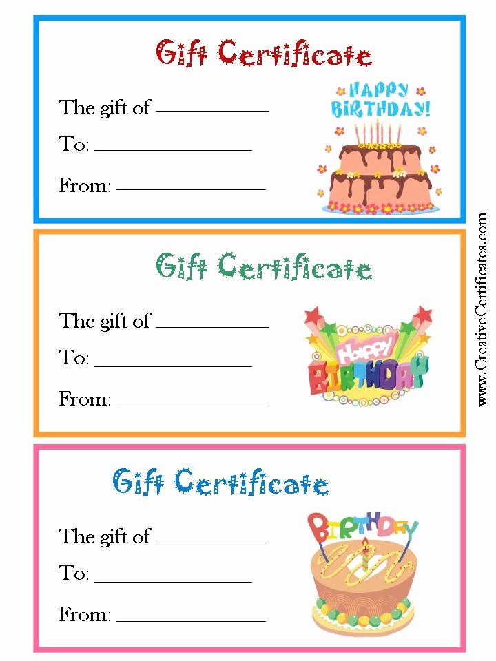 Print Gift Certificates Free Templates Inspirational 5 Best Of Free Birthday Printable Gift Certificates