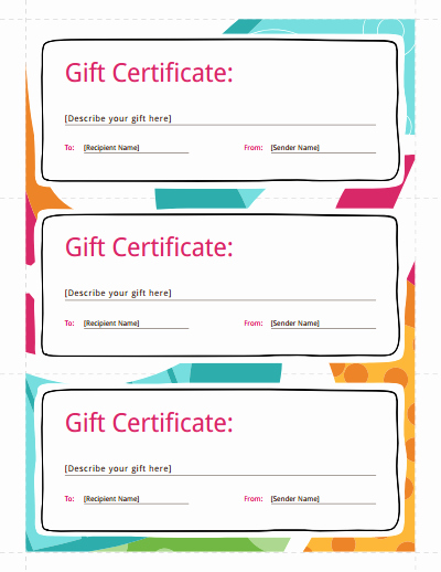 Print Gift Certificates Free Templates Luxury Gift Certificate Template Free Download Create Fill