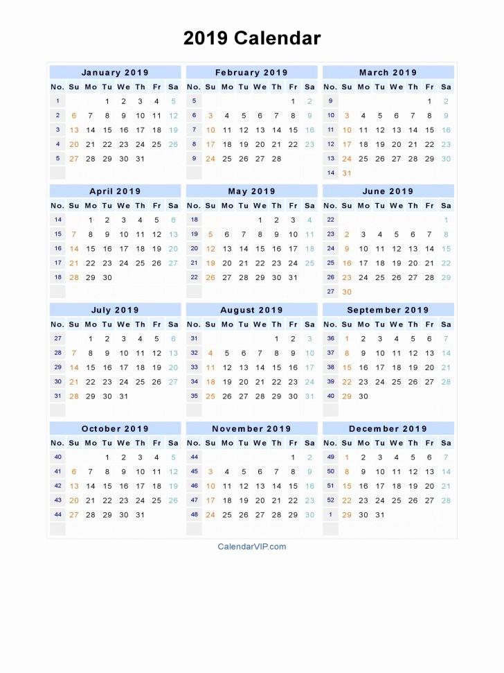 Printable 12 Month Calendar 2019 Awesome Calendar Monthly Calendar 2019