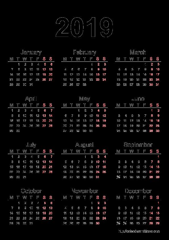 Printable 12 Month Calendar 2019 Beautiful 2019 Calendar
