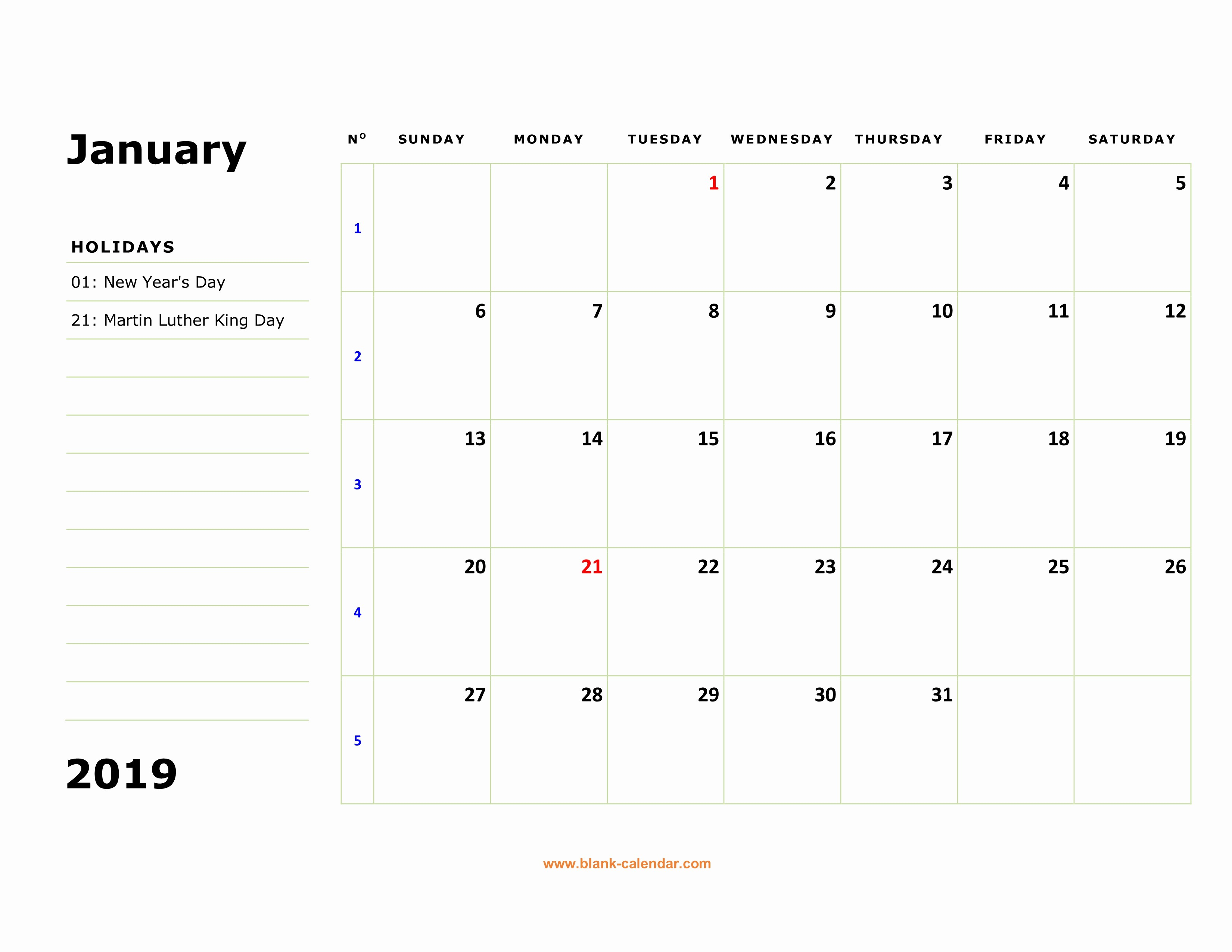 Printable 12 Month Calendar 2019 Best Of Free Download Printable Calendar 2019 Large Box Holidays