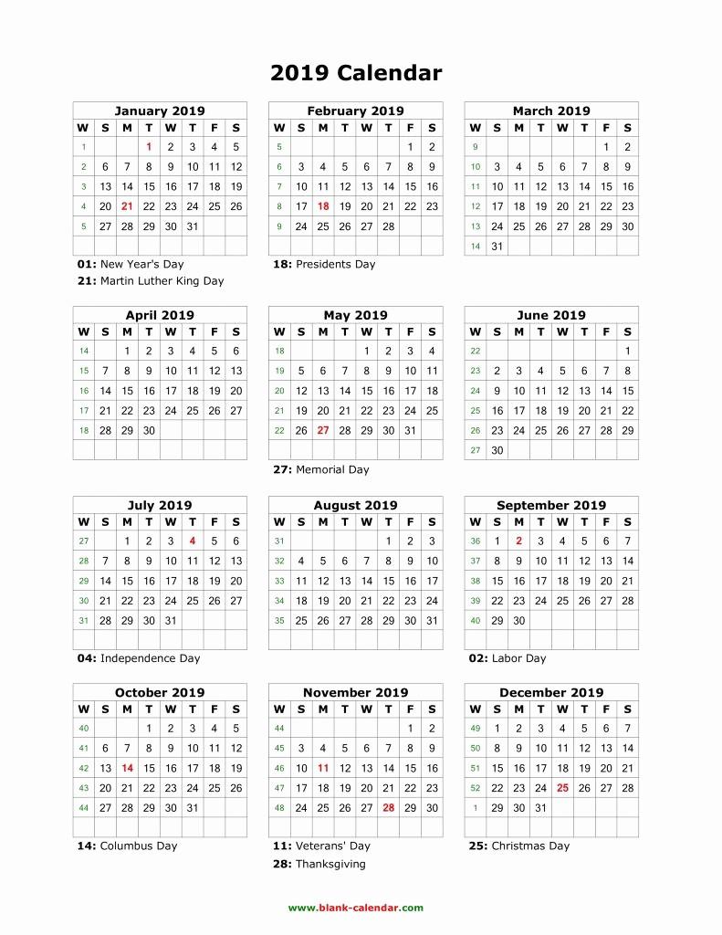 Printable 12 Month Calendar 2019 Elegant Best 35 Design Free 12 Month Calendar 2019