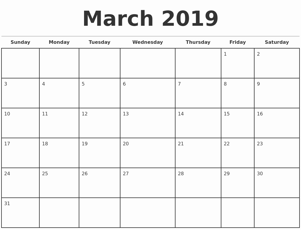 Printable 12 Month Calendar 2019 Fresh 2019 Monthly Calendar Template