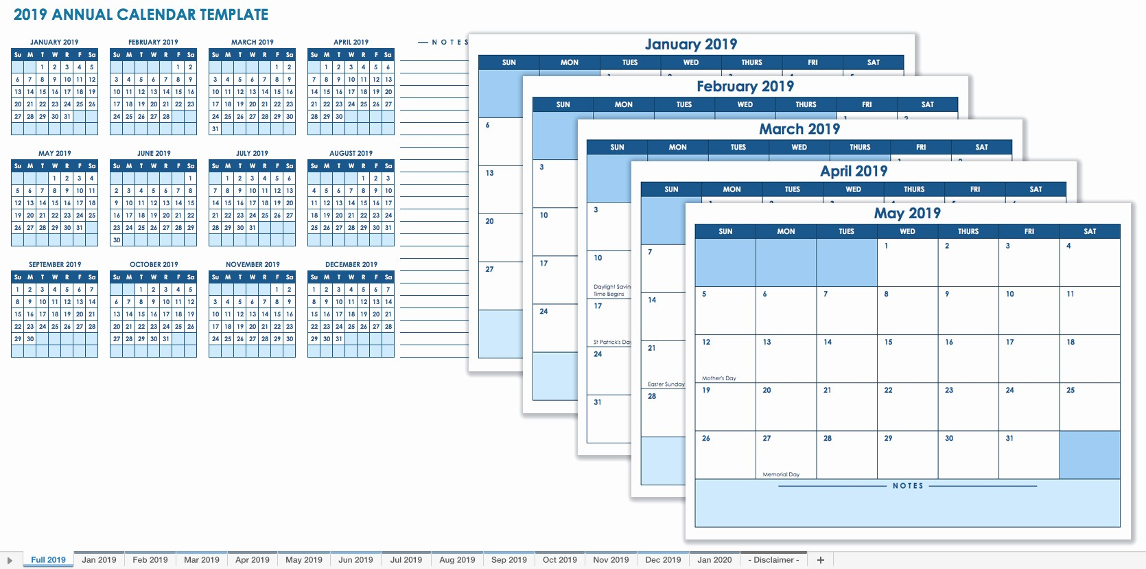 Printable 12 Month Calendar 2019 Lovely 15 Free Monthly Calendar Templates
