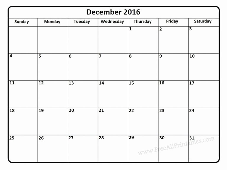 Printable 2016 Calendars with Holidays Awesome Printable December 2016 Calendar with Holidays to Share