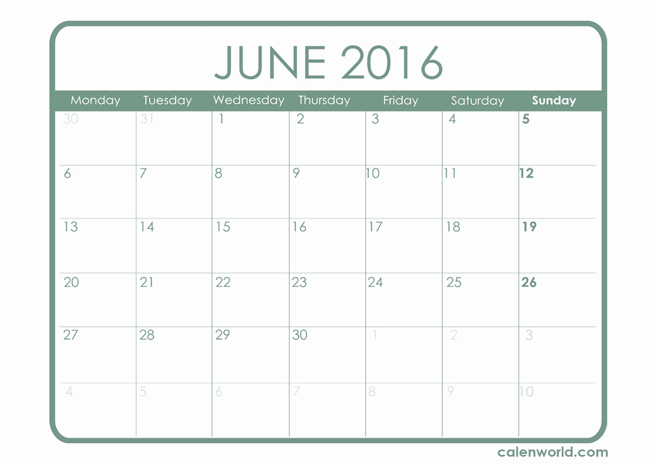 Printable 2016 Calendars with Holidays Beautiful June 2016 Calendar with Holidays – 2017 Printable Calendar