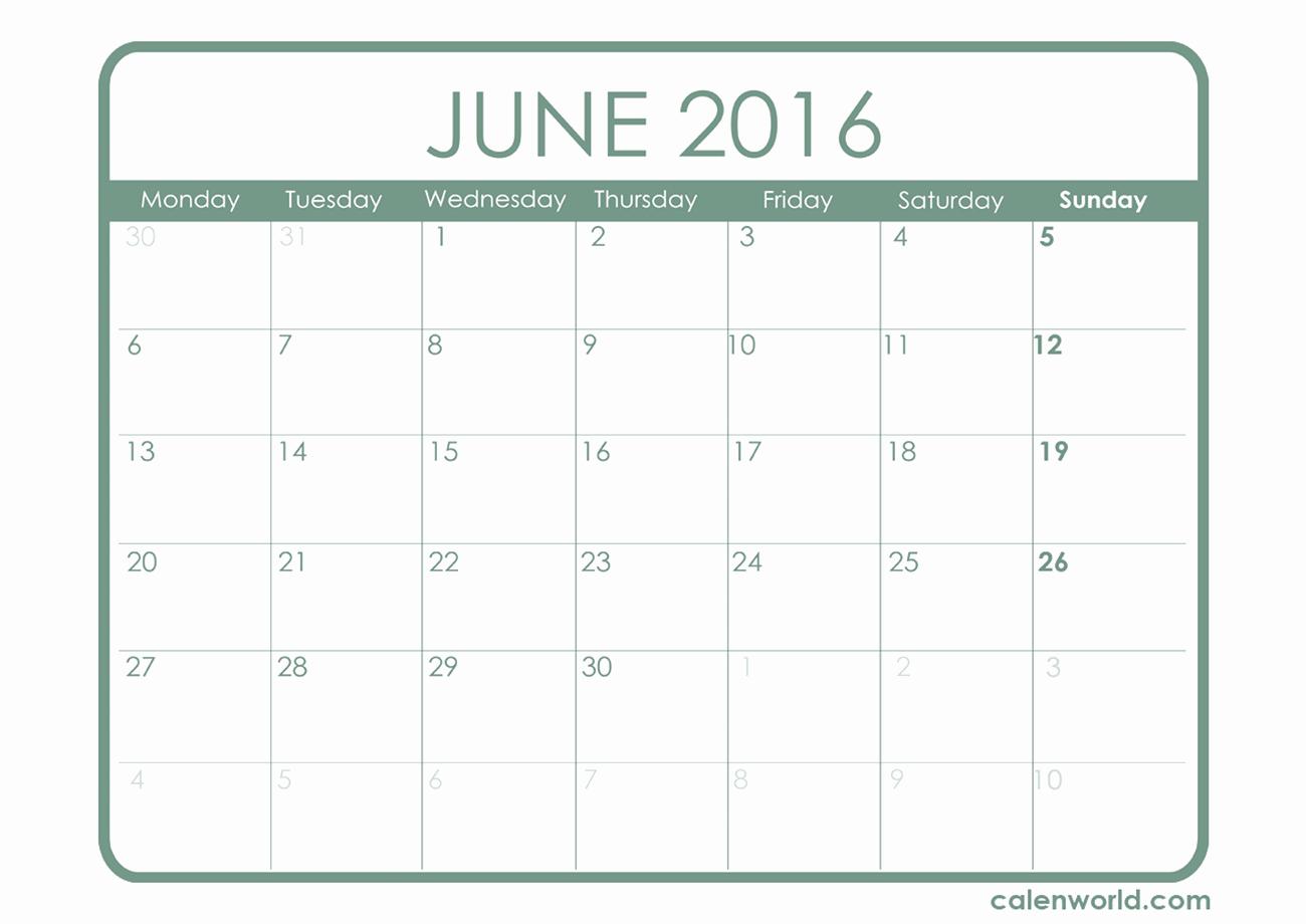 Printable 2016 Calendars with Holidays Beautiful June 2016 Calendar with Holidays – 2017 Printable Calendar
