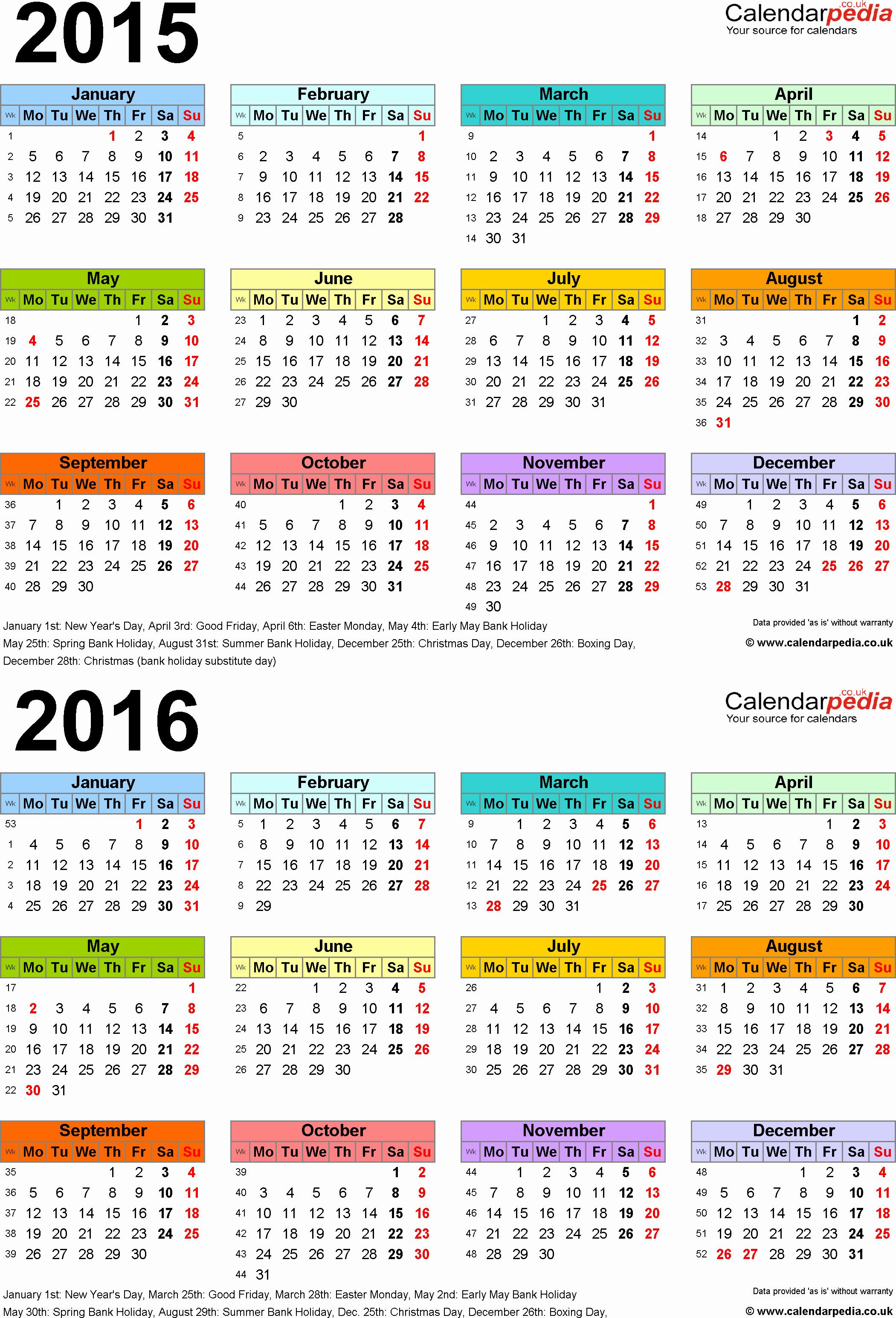 Printable 2016 Calendars with Holidays Elegant Fresh Printable 2016 Calendar with Holidays
