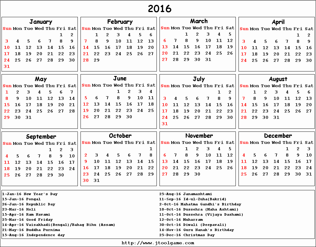 Printable 2016 Calendars with Holidays Inspirational September 2016 Calendar with Holidays Printable – 2017