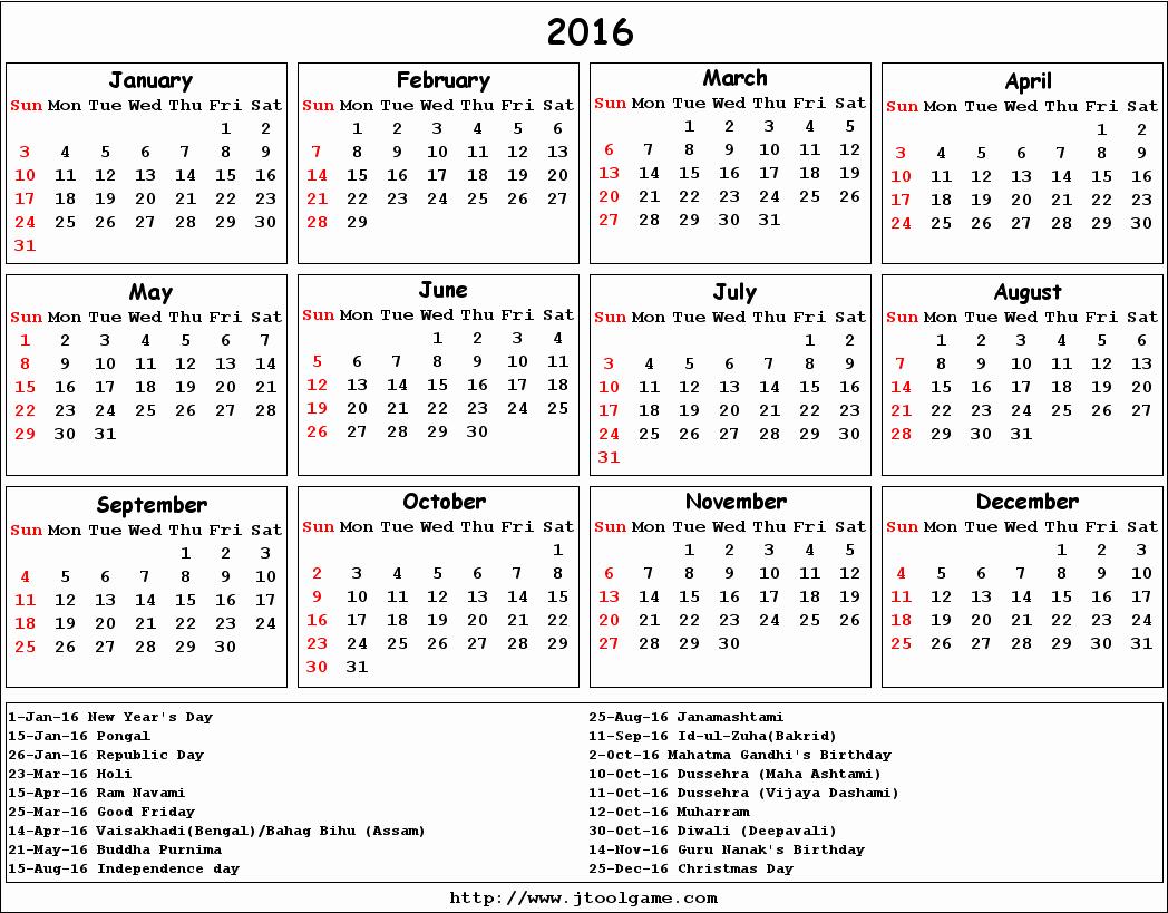 Printable 2016 Calendars with Holidays Inspirational September 2016 Calendar with Holidays Printable – 2017