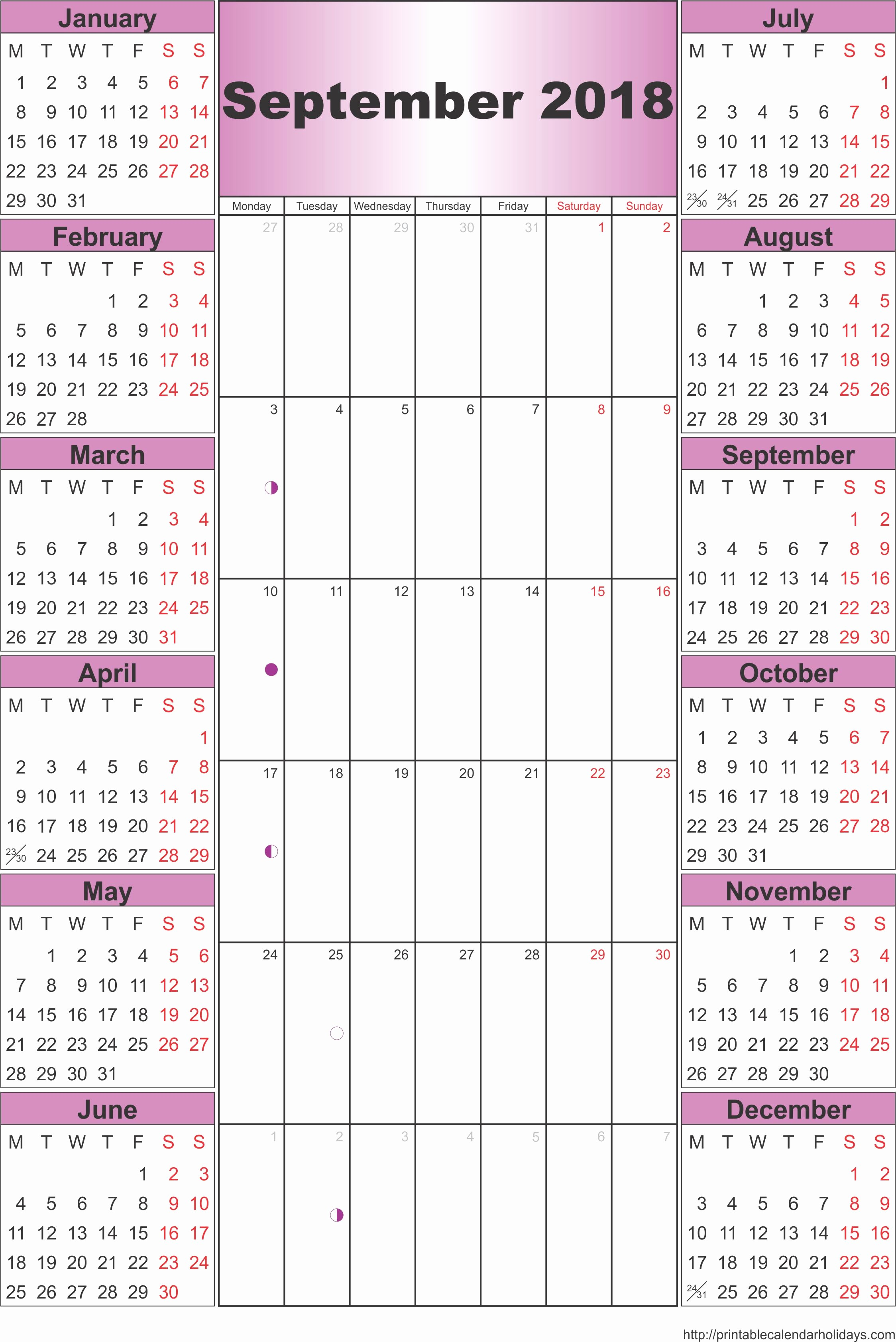Printable 2016 Calendars with Holidays Unique 3 Year Printable Calendar