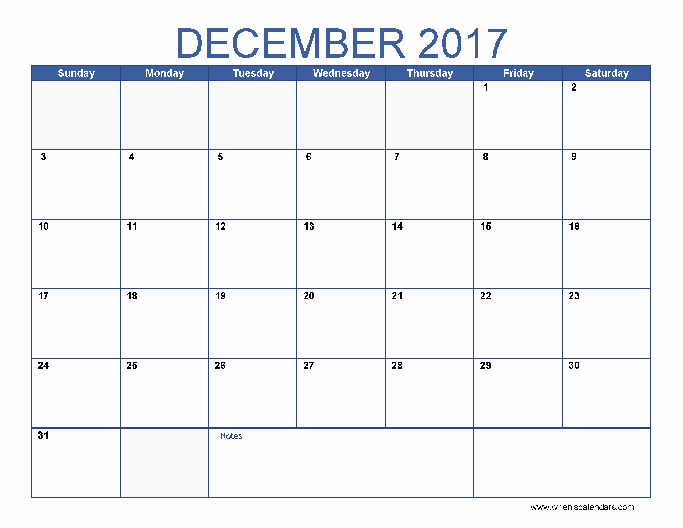 Printable 2017 Monthly Calendar Template Fresh Monthly Calendar for December 2017
