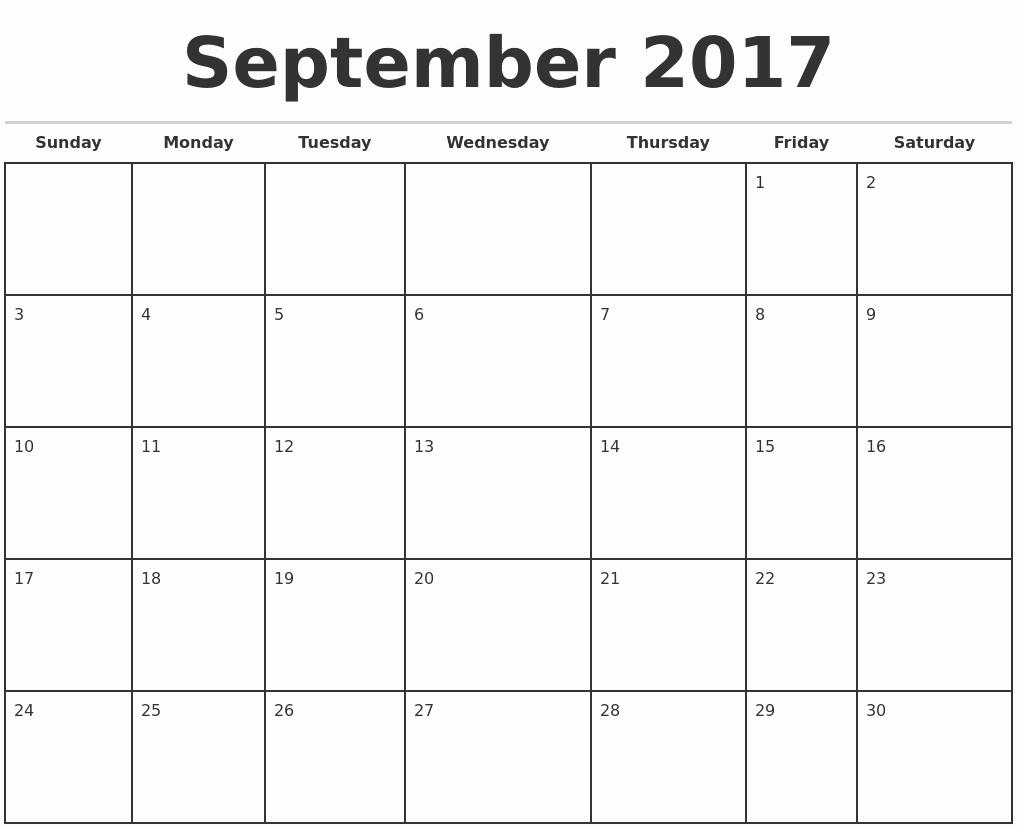 Printable 2017 Monthly Calendar Template Inspirational 2017 Monthly Calendar Template