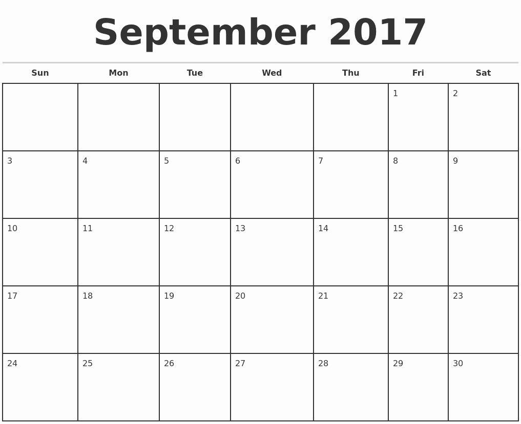 Printable 2017 Monthly Calendar Template Inspirational August 2017 Print A Calendar