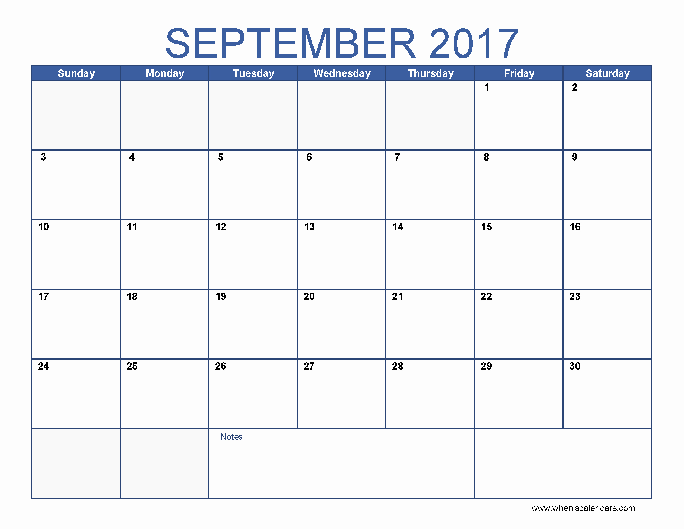 Printable 2017 Monthly Calendar Template Lovely September 2017 Calendar Template